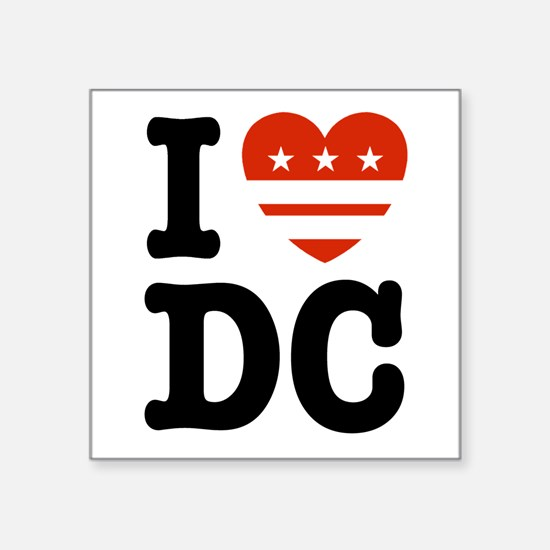 I Love DC Rectangle Sticker
