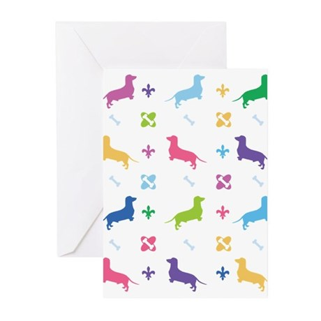 Dachshund Designer Greeting Cards (Pk of 10)