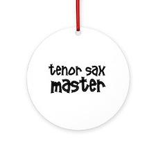Tenor Sax Master Ornament (Round)