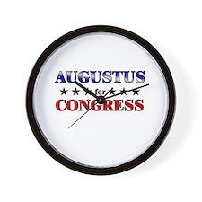 AUGUSTUS for congress Wall Clock