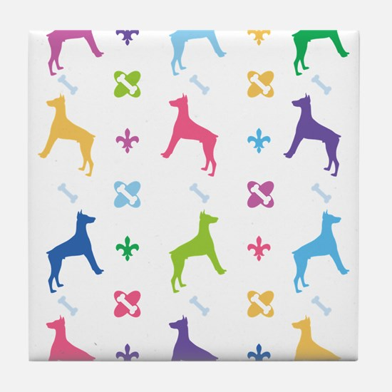 Doberman Pinscher Designer Tile Coaster