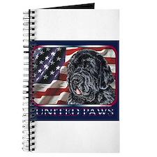 Newfoundland Dog Patriotic Flag USA Journal