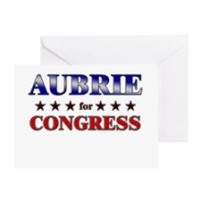 AUBRIE for congress Greeting Card