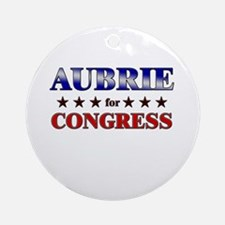 AUBRIE for congress Ornament (Round)