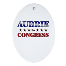 AUBRIE for congress Oval Ornament