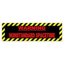 Nonstandard Spacetime Bumper Bumper Sticker