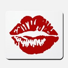 Red Lips / Lipstick Kiss Mousepad