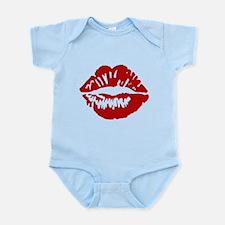Red Lips / Lipstick Kiss Infant Bodysuit