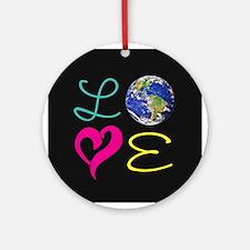 I Heart Earth Round Ornament