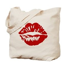 Red Lips / Lipstick Kiss Tote Bag