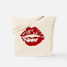 Red Lips / Lipstick Kiss Tote Bag