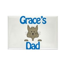 Grace's Dad Rectangle Magnet (10 pack)