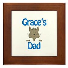 Grace's Dad Framed Tile