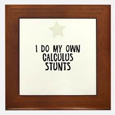 I Do My Own Calculus Stunts Framed Tile