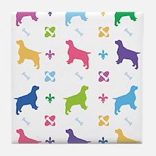 English Springer Spaniel Designer Tile Coaster
