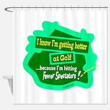 Better At Golf Shower Curtain