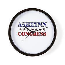 ASHLYNN for congress Wall Clock