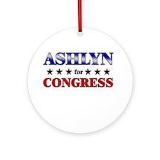ASHLYN for congress Ornament (Round)