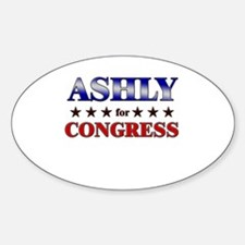 ASHLY for congress Oval Decal