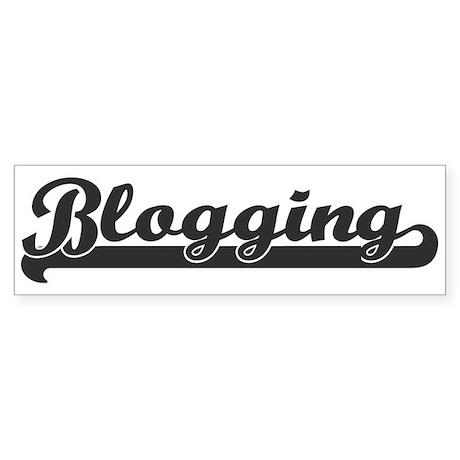 Blogging (sporty) Bumper Sticker