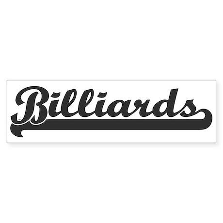 Billiards (sporty) Bumper Sticker