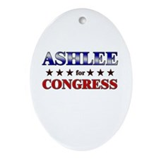 ASHLEE for congress Oval Ornament