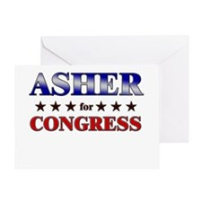 ASHER for congress Greeting Card