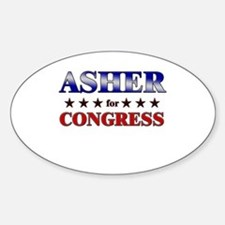 ASHER for congress Oval Decal