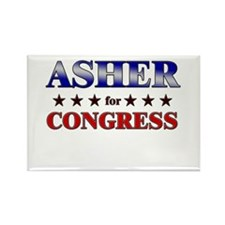 ASHER for congress Rectangle Magnet