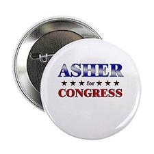 """ASHER for congress 2.25"""" Button"""