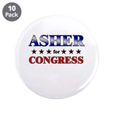 "ASHER for congress 3.5"" Button (10 pack)"