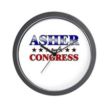 ASHER for congress Wall Clock