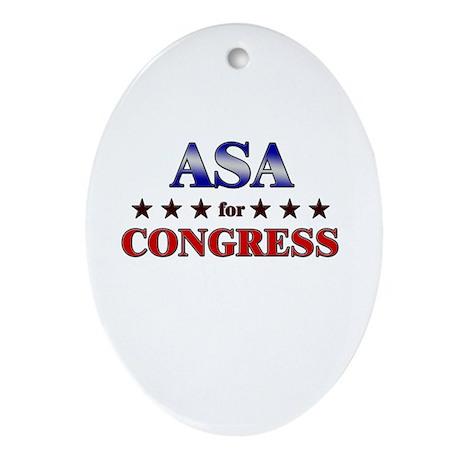 ASA for congress Oval Ornament