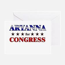 ARYANNA for congress Greeting Card