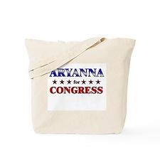 ARYANNA for congress Tote Bag