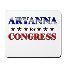ARYANNA for congress Mousepad