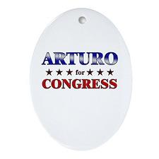 ARTURO for congress Oval Ornament