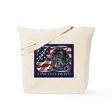 Newfoundland Dog Patriotic Flag USA Tote Bag