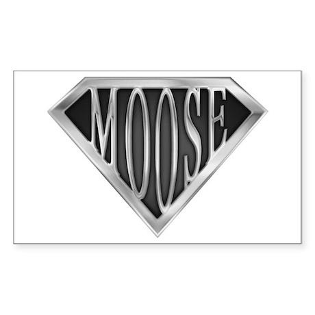 SuperMoose(metal) Rectangle Sticker