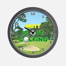 Matt is Out Golfing - Wall Clock