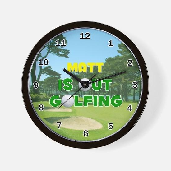 Matt is Out Golfing - Wall Clock