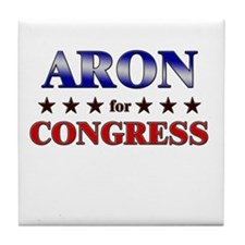 ARON for congress Tile Coaster