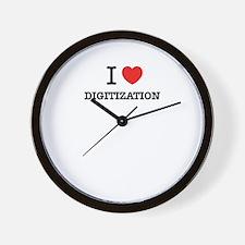 I Love DIGITIZATION Wall Clock
