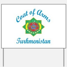Coat of Arms Turkmenistan Yard Sign