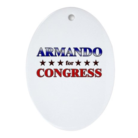 ARMANDO for congress Oval Ornament