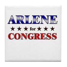 ARLENE for congress Tile Coaster