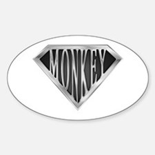 SuperMonkey(metal) Oval Decal