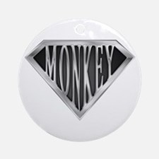 SuperMonkey(metal) Ornament (Round)