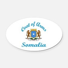 Coat of Arms Somalia Oval Car Magnet
