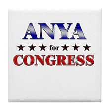 ANYA for congress Tile Coaster